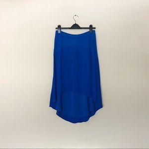 NWOT Anthro Left of Center Blue Pendulum Skirt